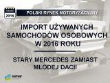 Październik 2016 - Stary Mercedes zamiast młodej Dacii