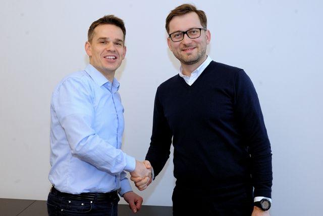 Odlewej: André Gerstner, prezes i największy akcjonariusz Groclinu oraz Michał Laska, założyciel i właściciel CADM.